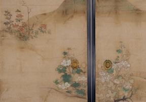 重要文化財障壁画「梅竹雀図」「花卉図」の特別展示の画像